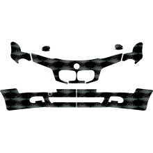 """Trapez Matt Schutzpanzer Glasfolie für BMW 3 F35 2013-2017 Professional 8.8/"""""""