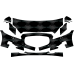 2011-2015 Jaguar XJ Base & L 3M Scotchgard Clear Bra Paint Protection Deluxe Film Kit