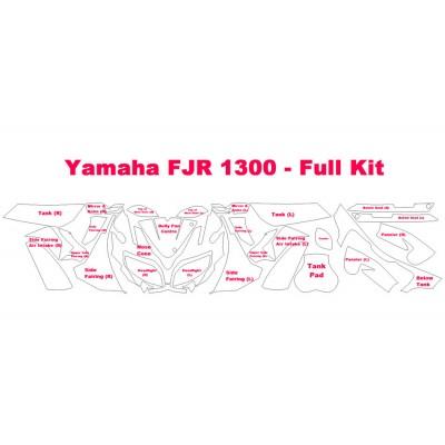 2013-2016 Yamaha FJR 1300 3M Pro Series Scotchgard Clear Bra Paint Protection Film Complete Kit