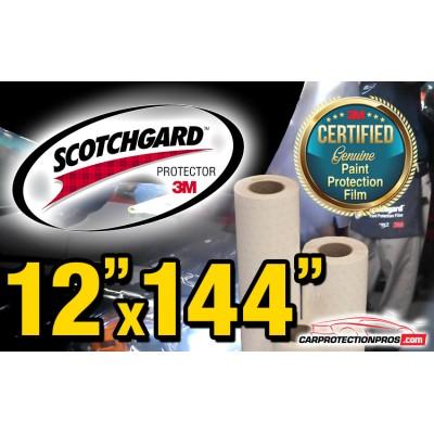 """12"""" x 144"""" Genuine 3M Scotchgard Paint Protection Film Bulk Roll Clear Bra Piece"""