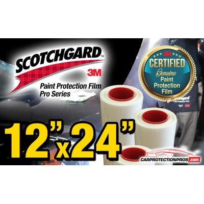 "12"" x 24"" Genuine 3M Scotchgard Pro Series Paint Protection Film Bulk Roll Clear Bra Piece"