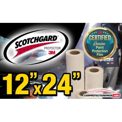 """12"""" x 24"""" Genuine 3M Scotchgard Paint Protection Film Bulk Roll Clear Bra Piece"""