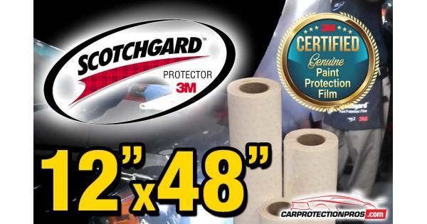 "12/"" x 48/"" Genuine 3M Scotchgard PRO Paint Protection Film Bulk Roll Clear Bra"