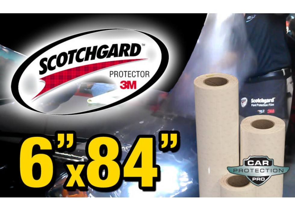 "Genuine 3M Scotchgard Paint Protection Film Clear Bra Bulk Roll Film 4/'/' x 12/"""