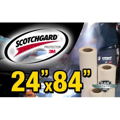 """24"""" x 84"""" Genuine 3M Scotchgard Paint Protection Film Bulk Roll Clear Bra Piece"""