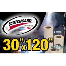 """30"""" x 120"""" Genuine 3M Scotchgard Paint Protection Film Bulk Roll Clear Bra Piece"""