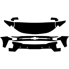 2019-2020 Chevrolet Silverado 1500 LT Trail Boss 3M Clear Bra Deluxe Paint Protection Kit