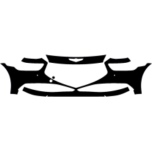 2019-2020 Genesis G90 3M Pro Series Clear Bra Front Bumper Paint Protection Kit