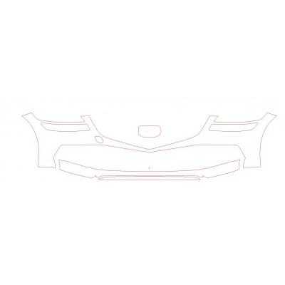 2021 Genesis Sedan G80 3M Pro Series Clear Bra Front Bumper Paint Protection Kit