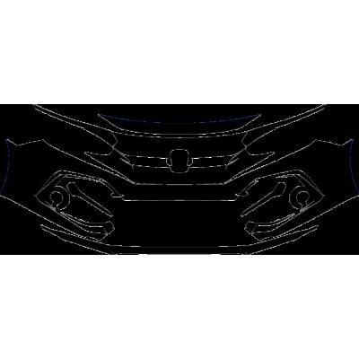 2020-2021 Honda Civic Si Sedan 3M Pro Series Clear Bra Front Bumper Paint Protection Kit