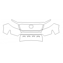 2021 Honda Ridgeline RTL, RTL-E, Black Edition 3M Pro Series Clear Bra Front Bumper Paint Protection Kit