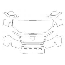 2021 Honda Ridgeline RTL, RTL-E, Black Edition 3M Pro Series Clear Bra Deluxe Paint Protection Kit