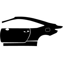 2015-2019 Lexus RC F 3M Pro Series Clear Bra Left Door and Rear Fender Paint Protection Kit