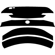 2015-2019 Lexus RC F 3M Pro Series Clear Bra Trunk Lid Paint Protection Kit