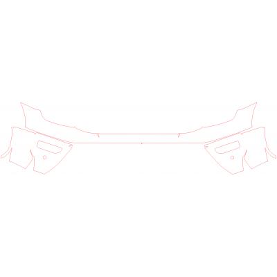 2020-2021 Nissan Titan PRO-4X 3M Pro Series Clear Bra Front Bumper Paint Protection Kit