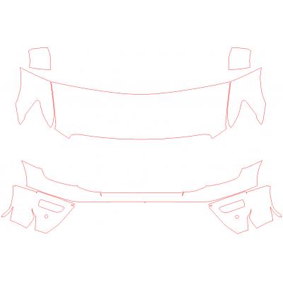 2020-2021 Nissan Titan PRO-4X 3M Pro Series Clear Bra Deluxe Paint Protection Kit