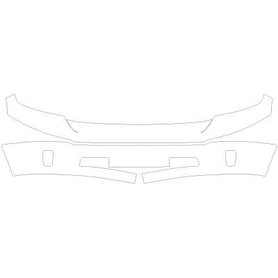 2018 Dodge Ram 1500 Limited Tungsten 3M Pro Series Clear Bra Front Bumper Paint Protection Kit