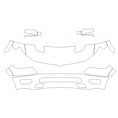 2019-2021 RAM 1500 Big Horn, Lone Star, Tradesman, SXT, Sport 3M Pro Series Clear Bra Deluxe Paint Protection Kit