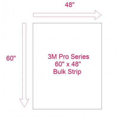 "3M Pro Series Clear Bra  60"" inch by 48"" Bulk Sheet for 2018-2019 Telsa Model 3"