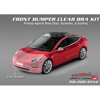 2018-2019 Tesla Model 3 3M Clear Bra Front Bumper Paint Protection Kit