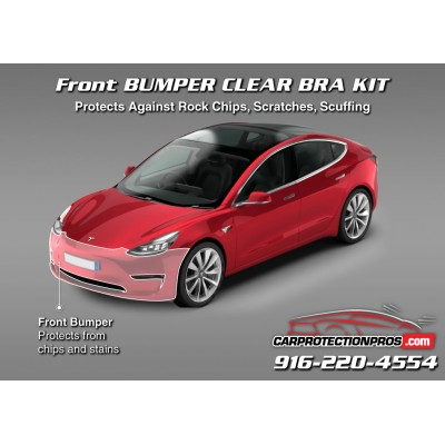 2018 2019 Tesla Model 3 3m Clear Bra Front Bumper Paint Protection Kit
