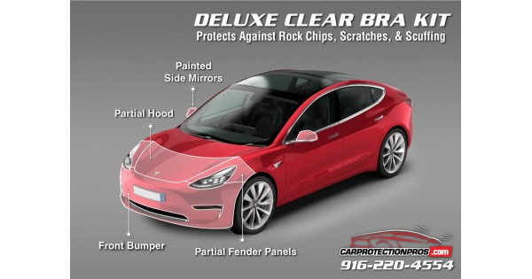 2018-2019 Tesla Model 3 3M Clear Bra Deluxe Paint Protection Kit