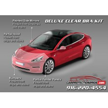 2018 Tesla Model 3 3M Pro Series Clear Bra Deluxe Paint Protection Kit