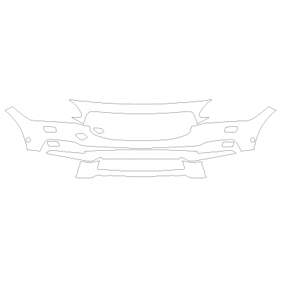 2017-2021 Volvo V90 T6 Cross Country 3M Pro Series Clear Bra Front Bumper Paint Protection Kit