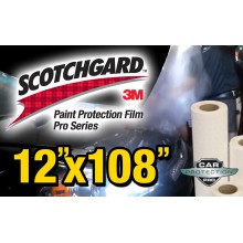 "12"" x 108"" Genuine 3M Scotchgard Pro Series Paint Protection Film Bulk Roll Clear Bra Piece"