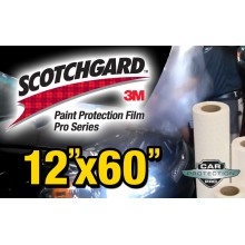 "12"" x 60"" Genuine 3M Scotchgard Pro Series Paint Protection Film Bulk Roll Clear Bra Piece"